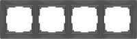 WL03-Frame-04-basic-grey / Рамка Snabb Basic 4 поста (серо-коричневый)