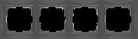 WL03-Frame-04-basic-grey / Рамка Snabb Basic 4 поста (серо-коричневый) a036701