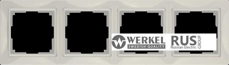 WL03-Frame-04-basic-ivory / Рамка Snabb Basic 4 поста (слоновая кость)
