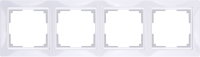 WL03-Frame-04-basic-white / Рамка Snabb Basic 4 поста (белый) a036628