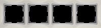 WL03-Frame-04-ivory / Рамка Snabb 4 поста (слоновая кость) a028903