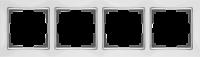WL03-Frame-04-white / Рамка Snabb 4 поста (белый)