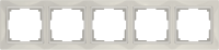 WL03-Frame-05-basic-ivory / Рамка Snabb Basic 5 поста (слоновая кость) a036634