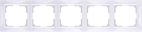 WL03-Frame-05-basic-white / Рамка Snabb Basic 5 поста (белый)