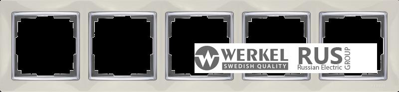 WL03-Frame-05-ivory / Рамка Snabb 5 постов (слоновая кость) a030803