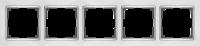 WL03-Frame-05-white / Рамка Snabb 5 постов (белый) a030802
