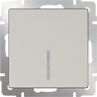 WL03-SW-1G-2W-LED-ivory / Выключатель одноклавишный проходной с подсветкой (слоновая кость) a030804