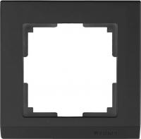 WL04-Frame-01-black / Рамка Stark на 1 пост (черный)