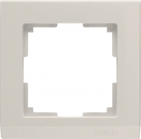 WL04-Frame-01-ivory / Рамка Stark 1 пост (слоновая кость) a028941