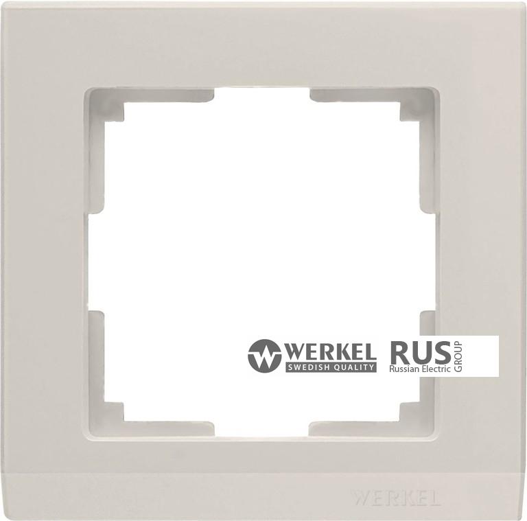 WL04-Frame-01-ivory / Рамка Stark 1 пост (слоновая кость)