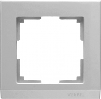 WL04-Frame-01 / Рамка Stark на 1 пост (Серебряный) a031802
