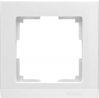 WL04-Frame-01-white / Рамка Stark 1 пост (белый) a028921