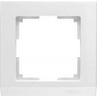 WL04-Frame-01-white / Рамка Stark 1 пост (белый)