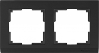 WL04-Frame-02-black / Рамка Stark на 2 поста (черный) a029215