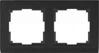 WL04-Frame-02-black / Рамка Stark на 2 поста (черный)