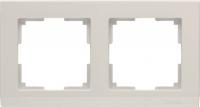 WL04-Frame-02-ivory / Рамка Stark 2 поста (слоновая кость) a028942