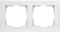 WL04-Frame-02-white / Рамка Stark 2 поста (белый) a028922