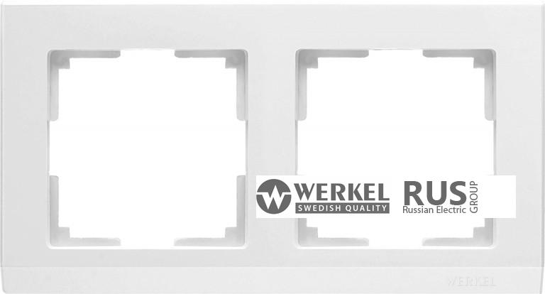 WL04-Frame-02-white / Рамка Stark 2 поста (белый)
