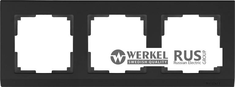 WL04-Frame-03-black / Рамка Stark на 3 поста (черный)