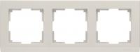 WL04-Frame-03-ivory / Рамка Stark 3 поста (слоновая кость) a028943
