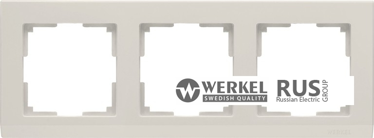 WL04-Frame-03-ivory / Рамка Stark 3 поста (слоновая кость)