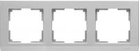 WL04-Frame-03 / Рамка Stark на 3 поста (Серебряный)