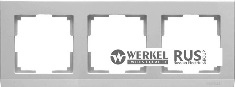 WL04-Frame-03 / Рамка Stark на 3 поста (Серебряный) a031804
