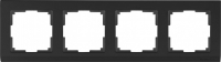 WL04-Frame-04-black / Рамка Stark на 4 поста (черный) a029217
