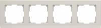 WL04-Frame-04-ivory / Рамка Stark 4 поста (слоновая кость) a028944