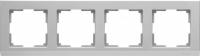 WL04-Frame-04 / Рамка Stark на 4 поста (Серебряный)
