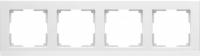 WL04-Frame-04-white / Рамка Stark 4 поста (белый) a028924