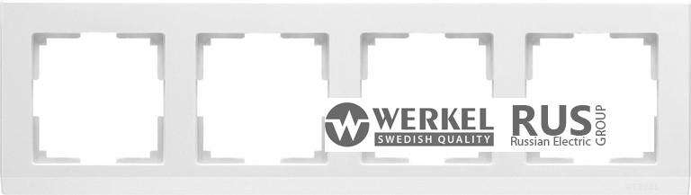 WL04-Frame-04-white / Рамка Stark 4 поста (белый)