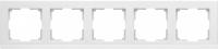 WL04-Frame-05-white / Рамка Stark 5 постов (белый) a030811