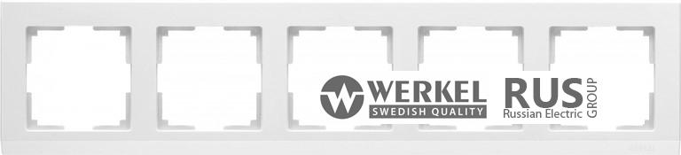 WL04-Frame-05-white / Рамка Stark 5 постов (белый)