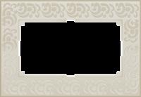 WL05-Frame-01-DBL-ivory Рамка для двойной розетки (Слоновая кость) a033484