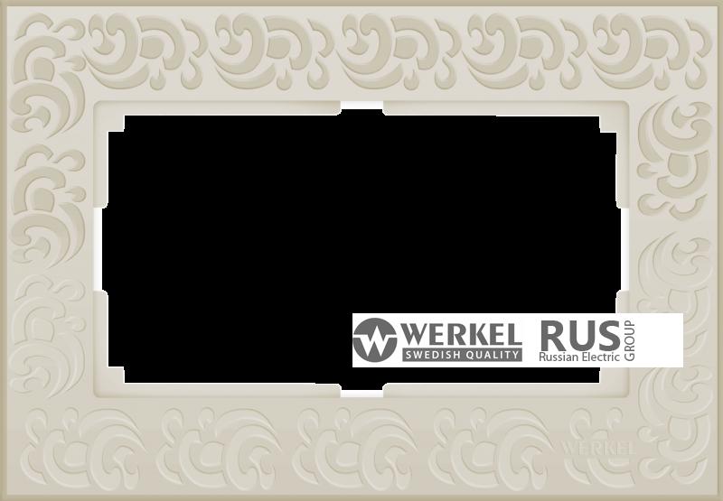 WL05-Frame-01-DBL-ivory Рамка для двойной розетки (Слоновая кость)