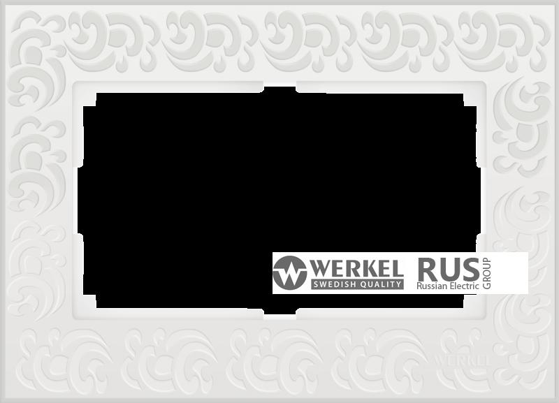 WL05-Frame-01-DBL-white Рамка для двойной розетки (Белый)