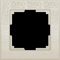 WL05-Frame-01-ivory / Рамка Flock на 1 пост (слоновая кость)