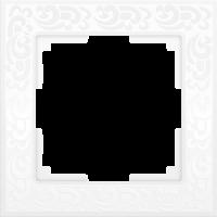 WL05-Frame-01-white / Рамка Flock на 1 пост (белый) a028962