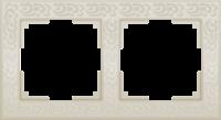WL05-Frame-02-ivory / Рамка Flock на 2 поста (слоновая кость)