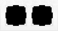 WL05-Frame-02-white / Рамка Flock на 2 поста (белый)