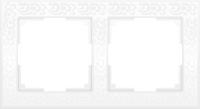 WL05-Frame-02-white / Рамка Flock на 2 поста (белый) a028963