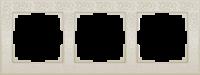 WL05-Frame-03-ivory / Рамка Flock на 3 поста (слоновая кость)