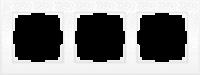 WL05-Frame-03-white / Рамка Flock на 3 поста (белый) a028964