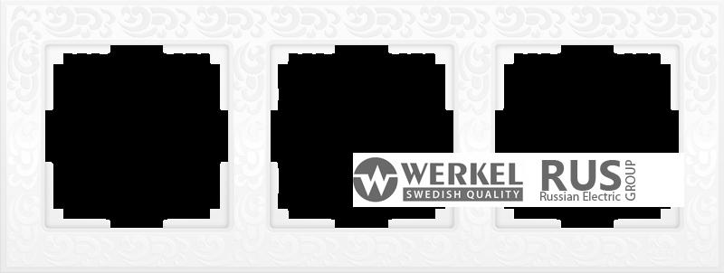 WL05-Frame-03-white / Рамка Flock на 3 поста (белый)