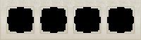 WL05-Frame-04-ivory / Рамка Flock на 4 поста (слоновая кость)