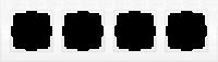 WL05-Frame-04-white / Рамка Flock на 4 поста (белый) a028965