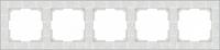 WL05-Frame-05-white / Рамка Flock на 5 постов (белый)
