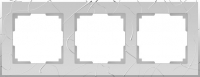WL06-Frame-03 / Рамка Vitel на 3 поста (серебряный)