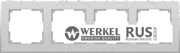 WL06-Frame-04 / Рамка Vitel на 4 поста (серебряный)